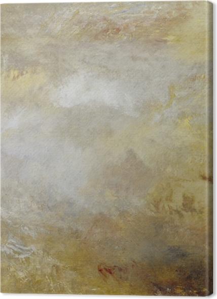 Obrazy premium William Turner - Burzliwe morze z delfinami - Reprodukcje