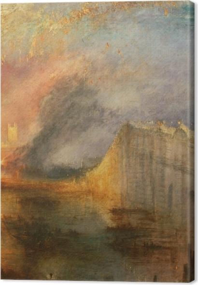 Obrazy premium William Turner - Pożar Izby Lordów i Izby Gmin - Reprodukcje