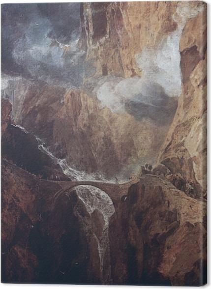Obrazy premium William Turner - Przełęcz św. Gottharda - Reprodukcje