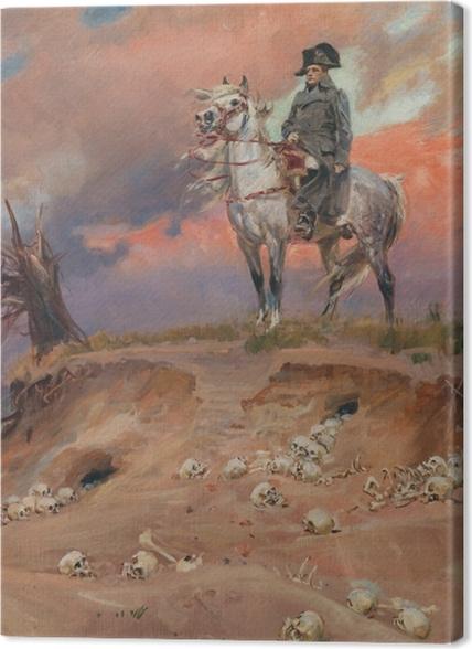 Obrazy premium Wojciech Kossak - Napoleon na polu bitwy - Reproductions