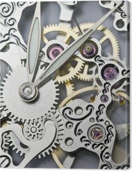 Obrazy premium Zamknij widok ręce zegarek i mechanizm