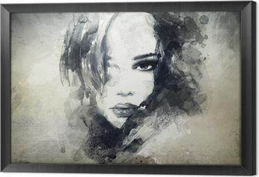 Obraz v Rámu Abstraktní žena, portrét