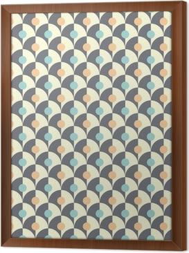 Rámovaný obraz na plátně Bezproblémová jednoduchý retro geometrický vzor klasického stylu