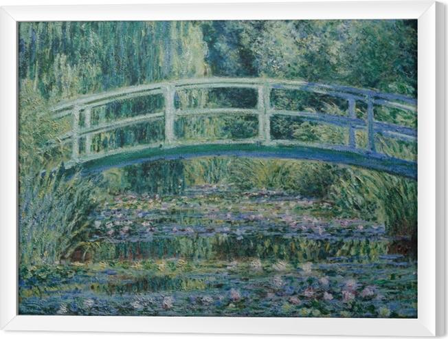 Rámovaný obraz na plátně Claude Monet - Bílé Waterlilies - Reprodukce