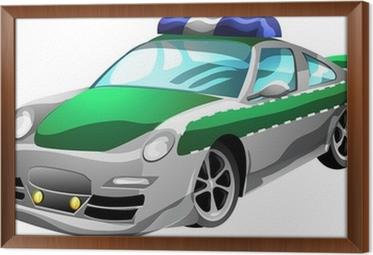 Fototapeta Kresleny Policejni Auto Pixers Zijeme Pro Zmenu
