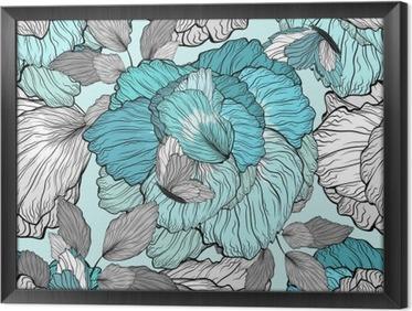 Obraz v Rámu Květinovým vzorem, bezešvé pozadí
