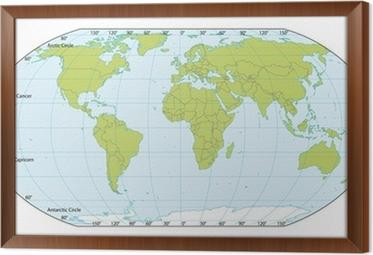 Fototapeta Mapa Sveta Se Souradnicemi Aktualni Verze Obsahovala