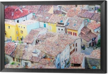 Rámovaný obraz na plátně Moustiers-Sainte-Marie, Francie, Provence.