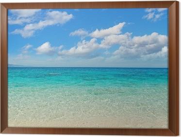 Obraz v Rámu Mraky nad Cala Mariolu pobřeží
