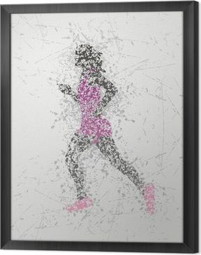 Rámovaný obraz na plátně Sportovec konstrukce