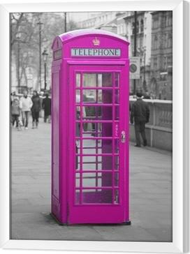 Rámovaný obraz na plátně Telefonní budky v Londýně