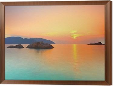 Rámovaný obraz na plátně Východ slunce
