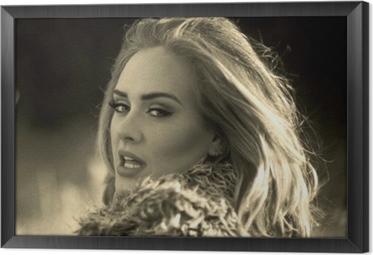 Obraz na płótnie w ramie Adele