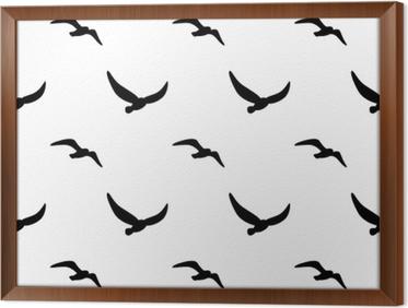 Tapeta Bez Szwu Wzorów Obrazu Sylwetki Ptaków Ilustracji