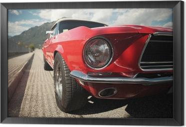 Obraz na płótnie w ramie Classic Car Muscle