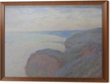 Obraz na płótnie w ramie Claude Monet - Klif nieopodal Dieppe
