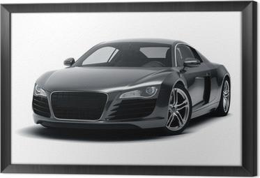 Obraz na płótnie w ramie Czarny samochód sportowy