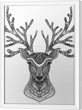 Obraz na płótnie w ramie Dekoracyjne Portret Deer