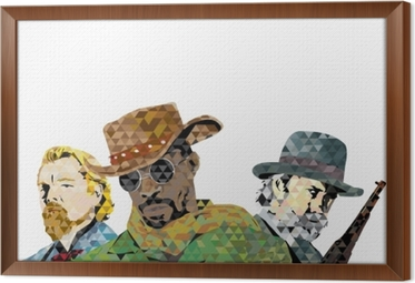 Obraz na płótnie w ramie Django