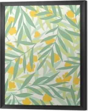 Obraz na płótnie w ramie Egzotyczne liści, tropikalnych.