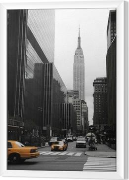 Obraz na płótnie w ramie Emipre State Building i żółty, Manhattan, New York
