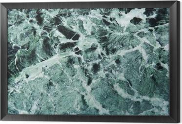 Obraz na płótnie w ramie Grüner Marmor