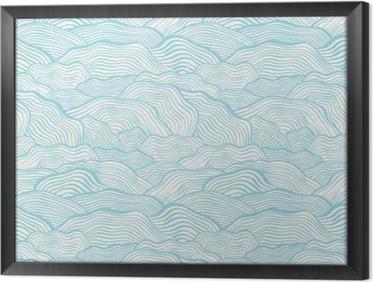 Obraz na płótnie w ramie Jednolite wzór ze skalą faliste tekstury