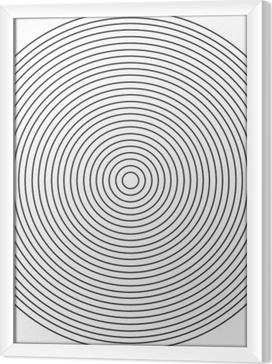 Obraz na płótnie w ramie Koncentryczne koło element na białym tle