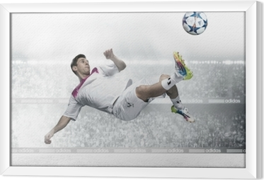 Obraz na płótnie w ramie Leo Messi