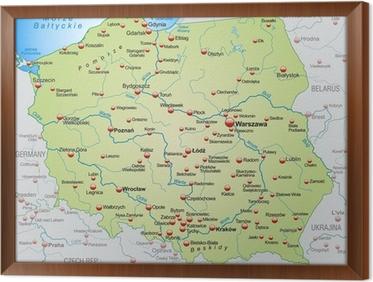 Fototapeta Mapa Polski Z Krajami Sąsiednimi Pixers żyjemy By