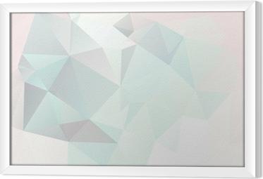 Obraz na płótnie w ramie Miękkie pastelowe tło abstrakcyjna geometrycznej wektora gradienty