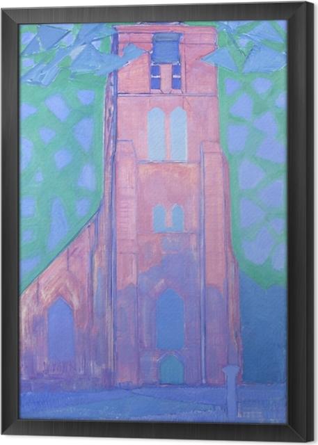 Obraz na płótnie w ramie Piet Mondrian - Wieża kościoła w Domburgu - Reprodukcje