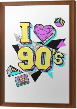 Obraz na płótnie w ramie Plakat w stylu Memphis lat 80.-90.
