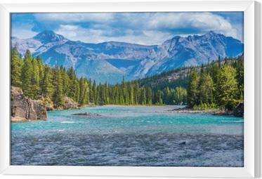 Obraz na płótnie w ramie Przepiękny krajobraz Kanadyjskich gór