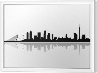 Obraz na płótnie w ramie Rotterdam city skyline wektor