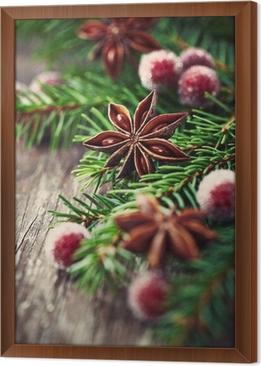 Fototapeta Rustic Christmas ozdoba z anyżu gwiaździstego • Pixers