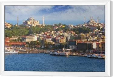 Obraz na płótnie w ramie Stambuł z wieży Galata, Turcja