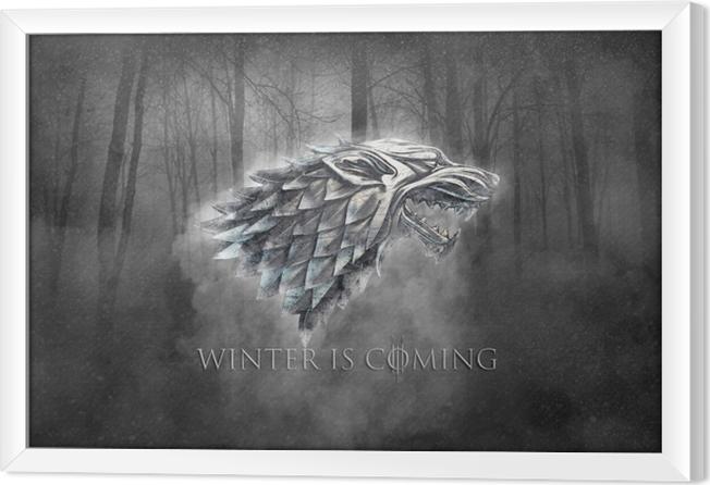 Obraz na płótnie w ramie Winter is coming - Tematy