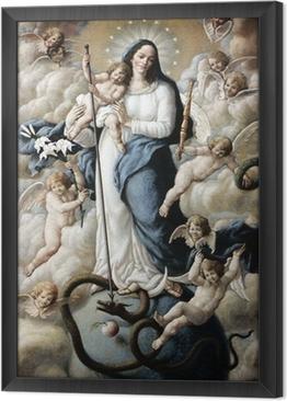 Obraz na płótnie w ramie Wniebowzięcie Najświętszej Maryi Panny