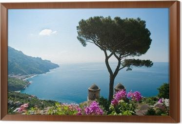Obraz na płótnie w ramie Wybrzeże Amalfi Widok