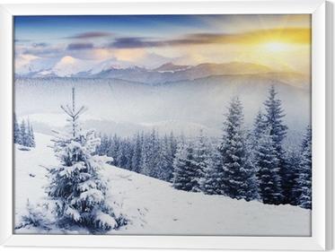 Obraz na płótnie w ramie Zima