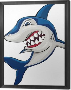 Obraz na płótnie w ramie Zły rekin