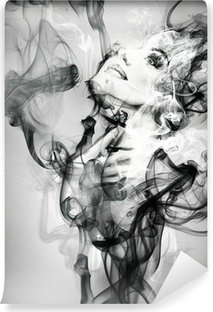 Omyvatelná Fototapeta Abstraktní žena portrét. akvarel ilustrace