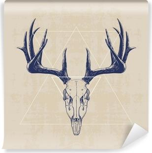 Omyvatelná Fototapeta deer skull