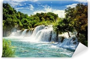 Omyvatelná Fototapeta Krka Vodopády