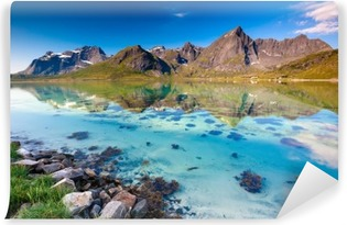 Omyvatelná Fototapeta Malebná krajina Norsko krajiny