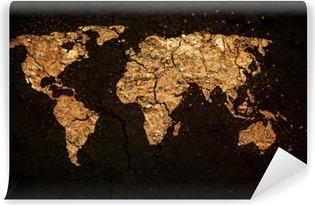 Omyvatelná Fototapeta Mapa světa na pozadí grunge