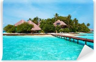 Omyvatelná Fototapeta Ostrov v oceánu. Vítejte v ráji!