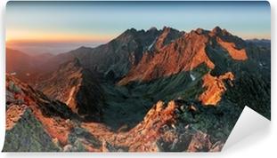 Omyvatelná Fototapeta Panorama horské podzimní krajina
