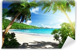 Omyvatelná Fototapeta Pláž, ostrov Mahe, Seychely